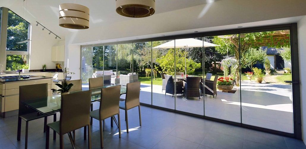 Frameless bifolding doors offer several advantages over sliding patio doors.