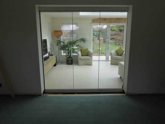 10mm Frameless Single Glazed Internal Doors Solihull