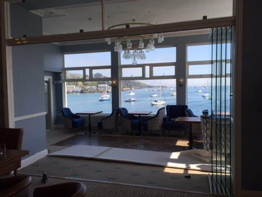 Glass doors in coastal area where the weather is an important factor