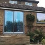 Kent frameless doors with window image 7