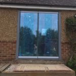 Kent frameless doors with window image 4