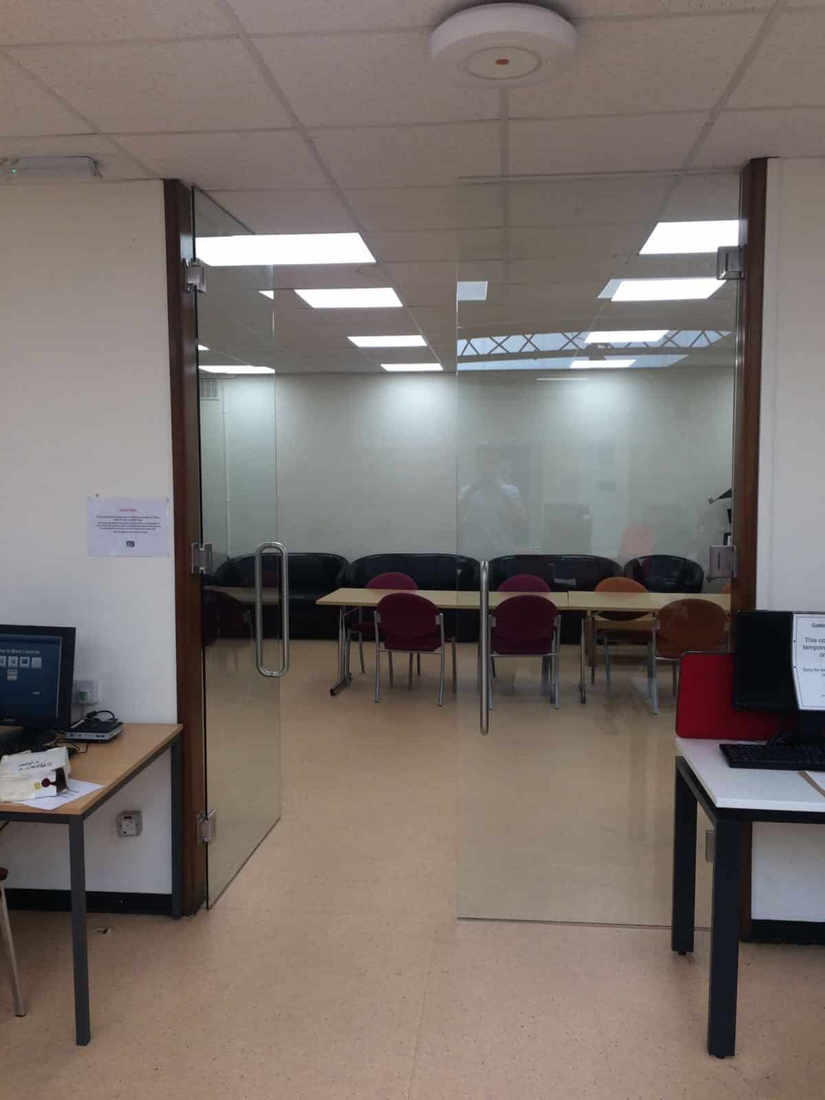 London commercial internal glass doors image 5