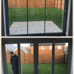 PVCu doors replaced with frameless