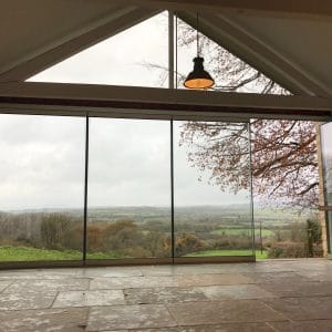 Beaminster Frameless doors & gable window image 3