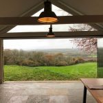 Beaminster Frameless doors & gable window image 5