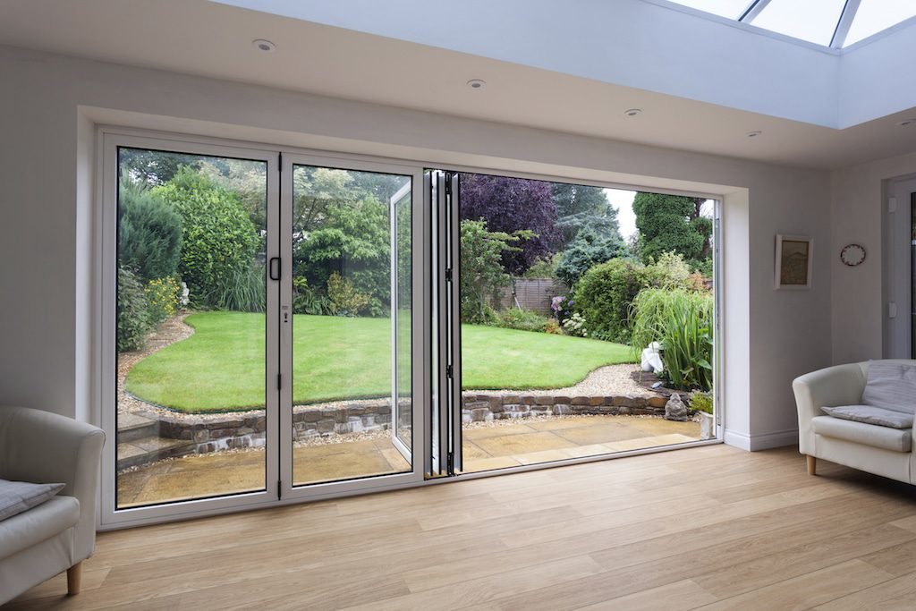 Picture of Schuco bifolding doors in a house