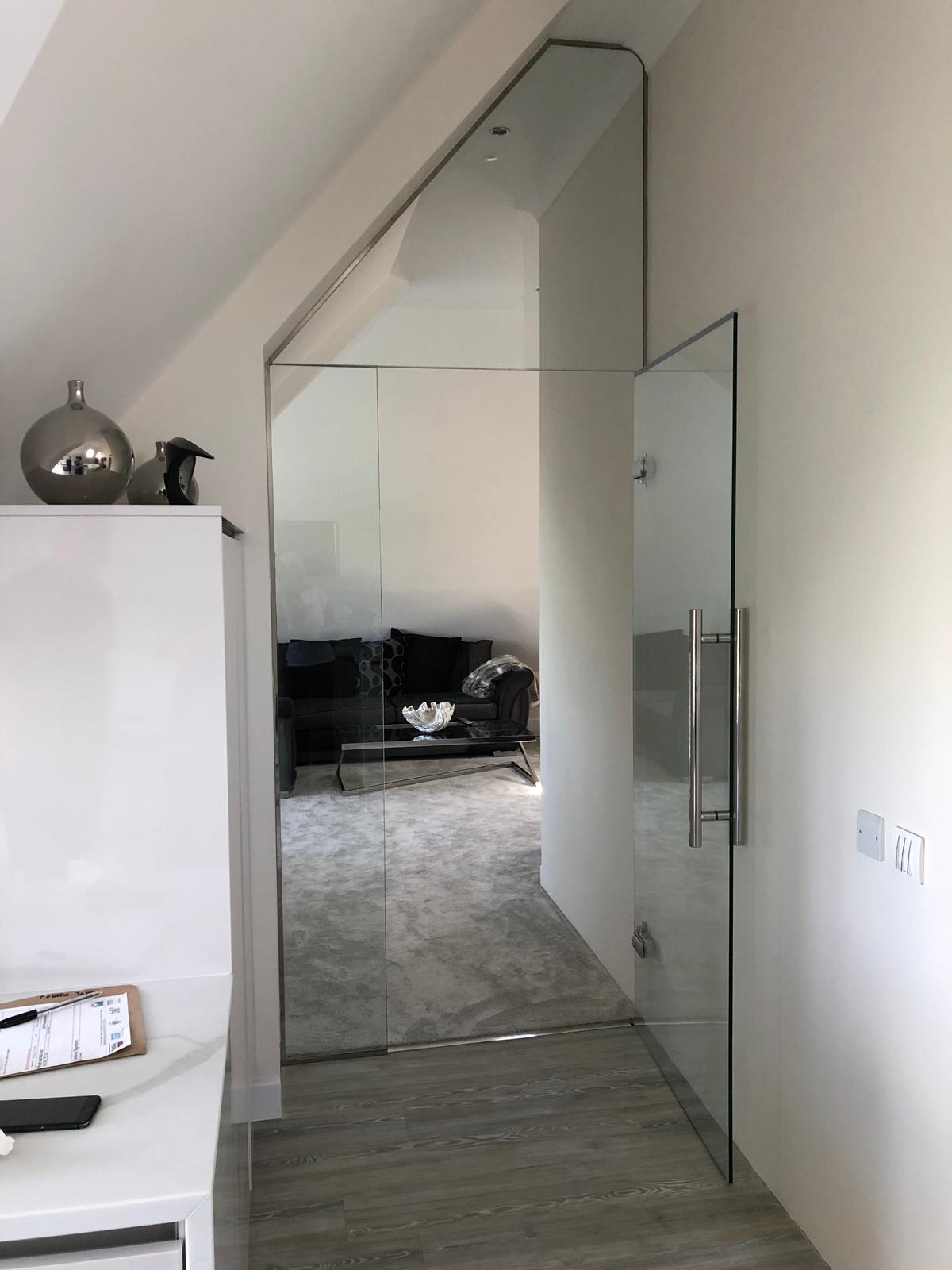 Internal Shaped Glass Door Kent