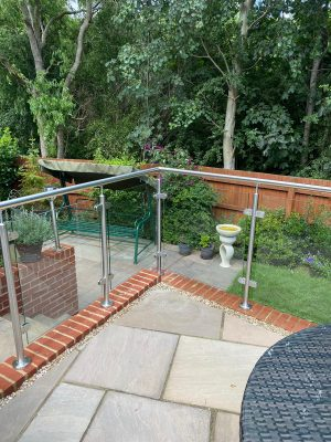 balustrades with an all glass corner