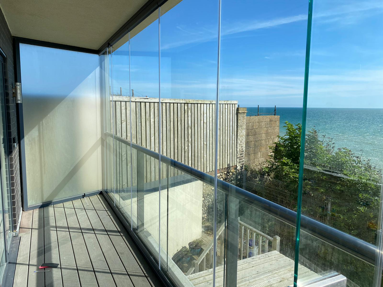 balcony enclosures for apartments in a brighton seafront property
